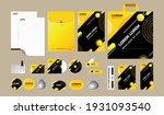 yellow and black corporate... | Shutterstock .eps vector #1931093540