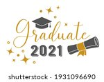 graduate 2021 . trendy...   Shutterstock .eps vector #1931096690