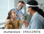 little girl with open mouth... | Shutterstock . vector #1931119076