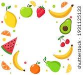 summer vector set of fruits in... | Shutterstock .eps vector #1931125133