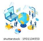 isometric 3d business concept... | Shutterstock .eps vector #1931134553