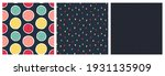 set of seamless patterns with... | Shutterstock .eps vector #1931135909