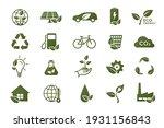 eco icon set. eco friendly ...   Shutterstock .eps vector #1931156843