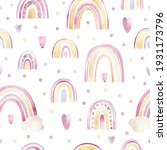 watercolor pattern with multi...   Shutterstock . vector #1931173796