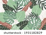 tropical background with jungle ...   Shutterstock .eps vector #1931182829