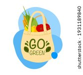 reusable grocery bag with...   Shutterstock .eps vector #1931189840