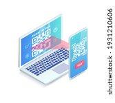 website payment solution... | Shutterstock .eps vector #1931210606