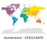 colorful political map of world.... | Shutterstock .eps vector #1931216870
