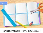how to make origami paper in... | Shutterstock .eps vector #1931220863
