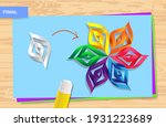how to make origami paper in... | Shutterstock .eps vector #1931223689
