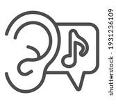 ear and note line icon  sound... | Shutterstock .eps vector #1931236109