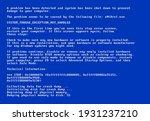 bsod screen old 98 error crash... | Shutterstock .eps vector #1931237210