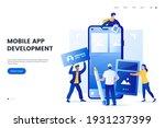 mobile application development... | Shutterstock .eps vector #1931237399