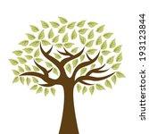 ecology design over white... | Shutterstock .eps vector #193123844