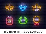vip neon icons. included icons...   Shutterstock .eps vector #1931249276