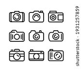 camera icon or logo isolated... | Shutterstock .eps vector #1931257859