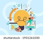 web designer digital artist... | Shutterstock .eps vector #1931261030