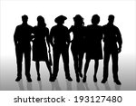 vector silhouette of a people...   Shutterstock .eps vector #193127480