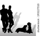 vector silhouette of family on...   Shutterstock .eps vector #193127510