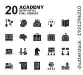 icon set of academy. glyph...