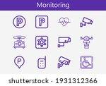 premium set of monitoring line... | Shutterstock .eps vector #1931312366