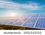 Small photo of Solar panel against blue sky background. Photovoltaic, alternative electricity source. Idea for sustainable resources
