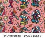 chess game seamless pattern.... | Shutterstock .eps vector #1931316653