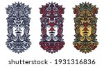 ancient aztec totem  mexican... | Shutterstock .eps vector #1931316836