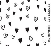 hand drawn doodle hearts... | Shutterstock .eps vector #1931320283