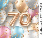 anniversary greeting card with... | Shutterstock .eps vector #1931321453