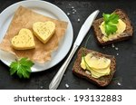 two heart shaped peaces of... | Shutterstock . vector #193132883