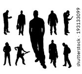 vector silhouette of people on... | Shutterstock .eps vector #193133099