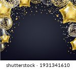 happy birthday card with white... | Shutterstock .eps vector #1931341610