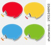 banner with megaphone isolated... | Shutterstock .eps vector #1931348903