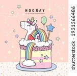 birthday greeting card with a... | Shutterstock .eps vector #1931366486