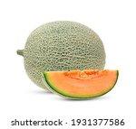 Cantaloupe Melon Isolated On...