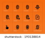 security finger print icons on...