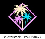 palm trees in a square frame....   Shutterstock .eps vector #1931398679