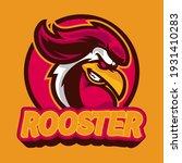 rooster mascot e sport logo... | Shutterstock .eps vector #1931410283