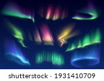 aurora borealis polar lights... | Shutterstock .eps vector #1931410709