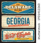 delaware  georgia and west... | Shutterstock .eps vector #1931412263