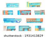 gym or fitness center buildings ...   Shutterstock .eps vector #1931413829