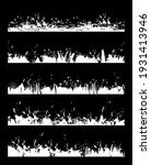 grunge borders isolated vector... | Shutterstock .eps vector #1931413946