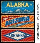 alaska  arizona and arkansas... | Shutterstock .eps vector #1931414093