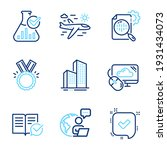 business icons set. included... | Shutterstock .eps vector #1931434073