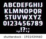 glitch type font  glowing... | Shutterstock .eps vector #1931434460