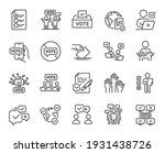 voting line icons. public... | Shutterstock .eps vector #1931438726