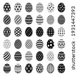 set of easter eggs with... | Shutterstock .eps vector #1931447393