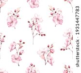 floral seamless pattern with... | Shutterstock . vector #1931447783