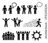 children group pose welfare... | Shutterstock . vector #193145624